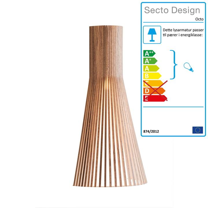 Secto Lille 4231 væglampe af Secto i valnød
