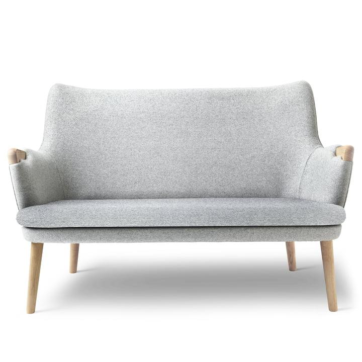 CH72 sofa af Carl Hansen i olieret eg / grå (Hallingdal 116)