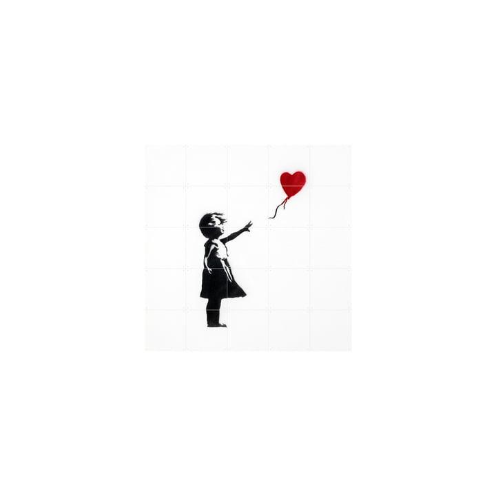 Pige med ballon (Banksy) 100 x 100 cm af IXXI