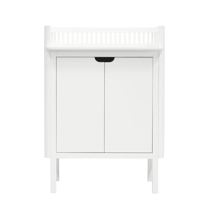 Skiftende bord af Sebra i hvid