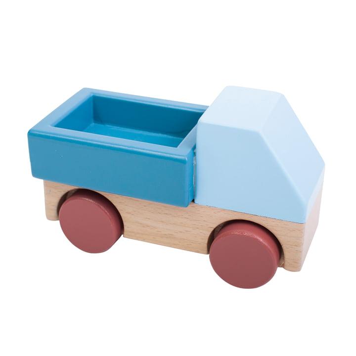 Træbil fra Sebra i blå