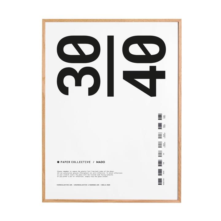 Billedramme 30 x 40 cm af Paper Collective i egetræ