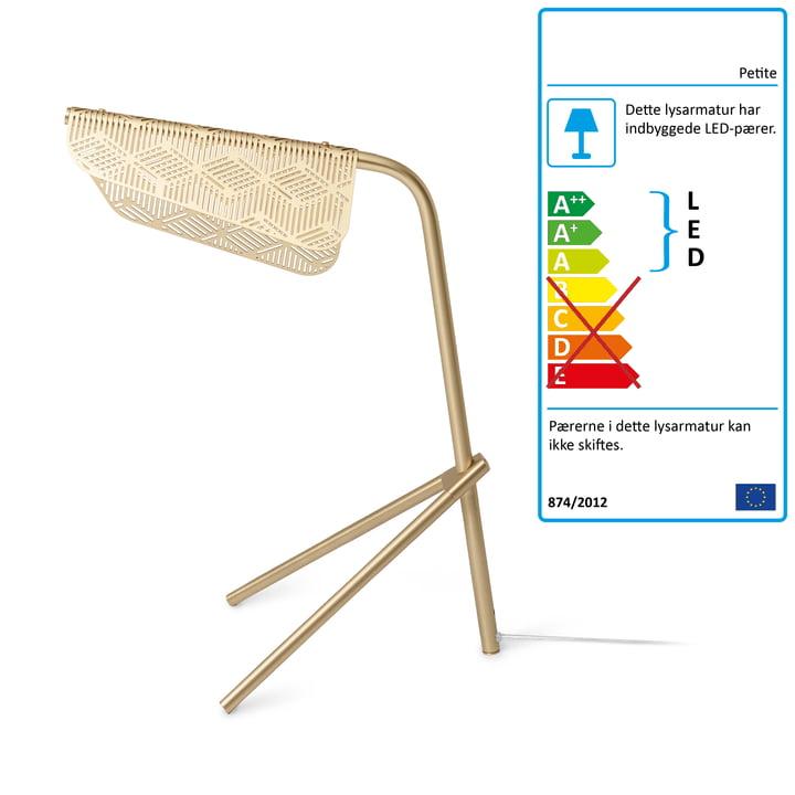 Mediterranea LED bordlampe af Petite Friture børstet i messing