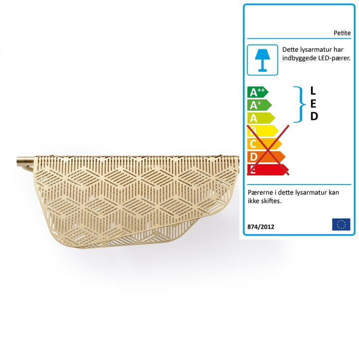 Mediterranea LED væglampe af Petite Friture børstet i messing