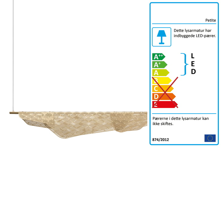 Mediterranea LED vedhæng lys af Petite Friture børstet i messing