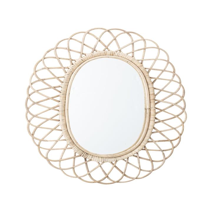 Spejl flettet af Bloomingville, L 49 x H 53 cm