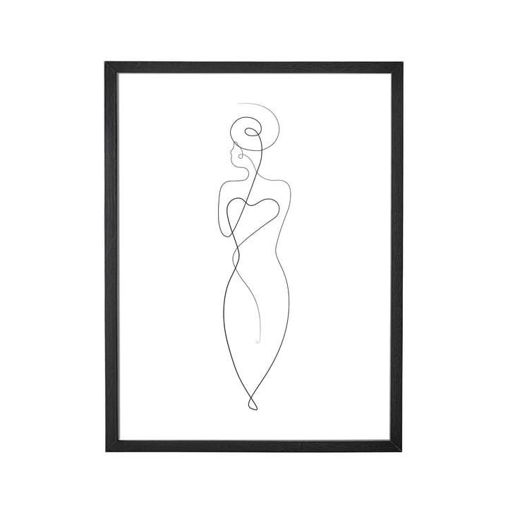Billedramme af Bloomingville, L 35 x H 45 cm i sort