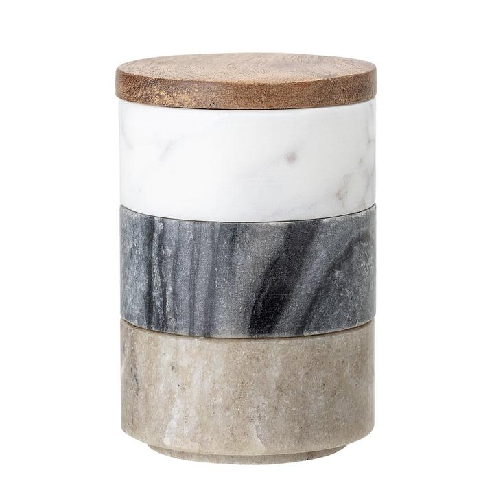 Marmor opbevaringsbokse 3 stk fra Bloomingville i flerfarvet