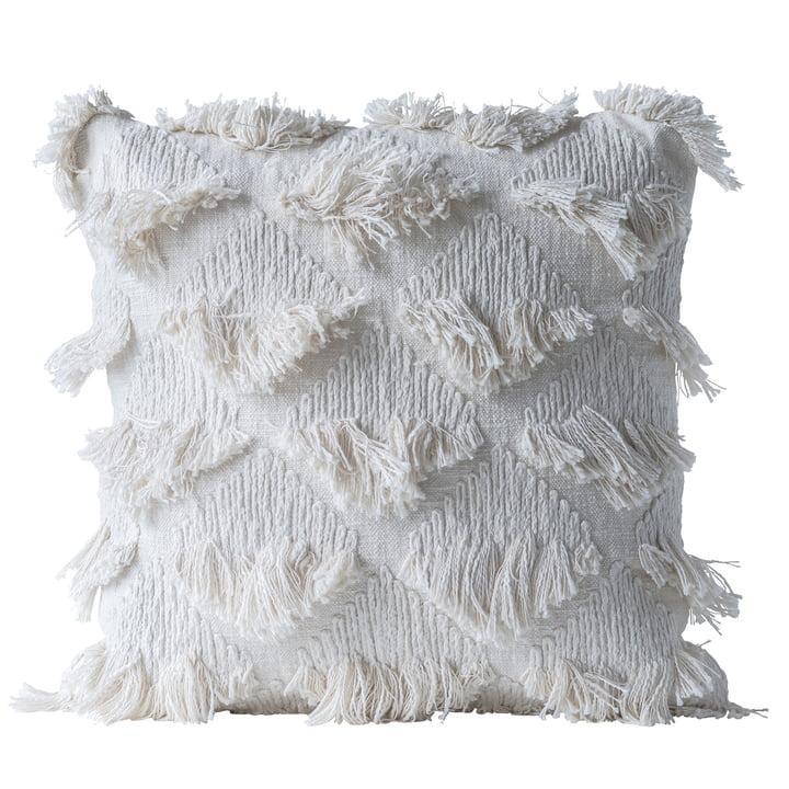Indsamlet pude af Bloomingville, L 55 x W 55 cm i hvid