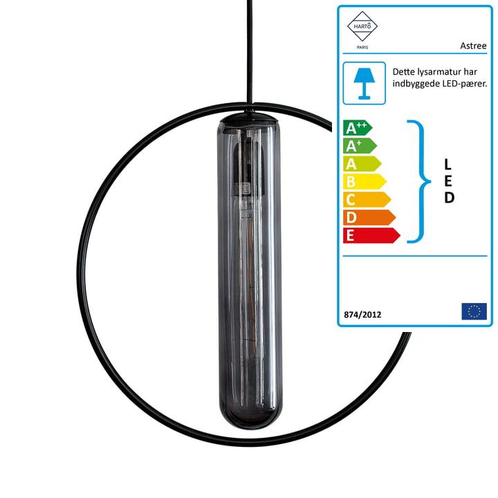 Astree vedhængslampe Ø 36 cm fra Hartô i sort