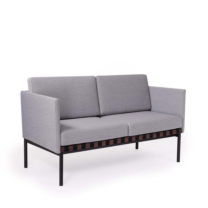 Gitter Sofa med armlæn af Petite Friture i Walnut / Cover: Steelcut Trio 2 (133)