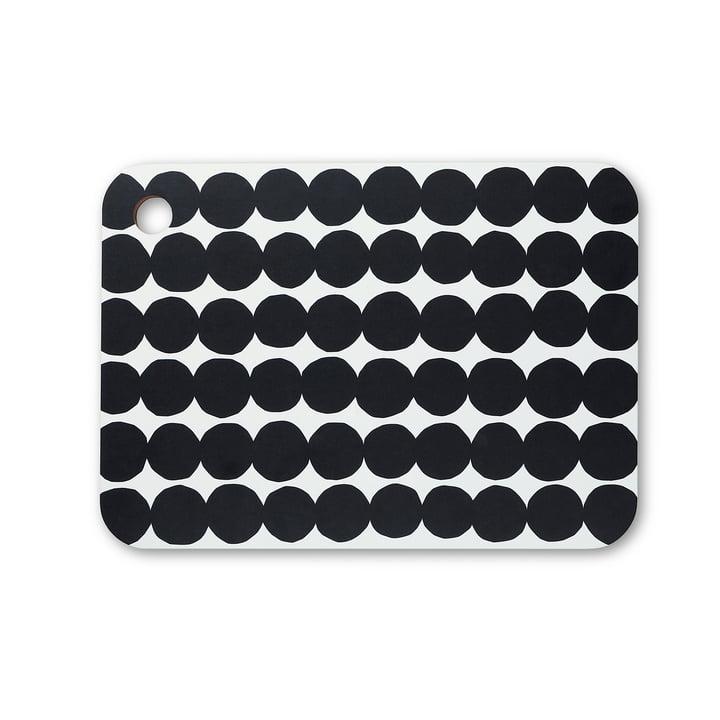 Räsymatto skærebræt af Marimekko i sort / hvid