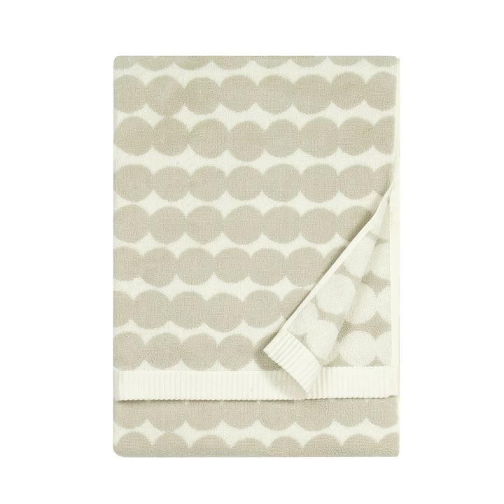 Räsymatto håndklæde af Marimekko, 50 x 100 cm i hvid / beige