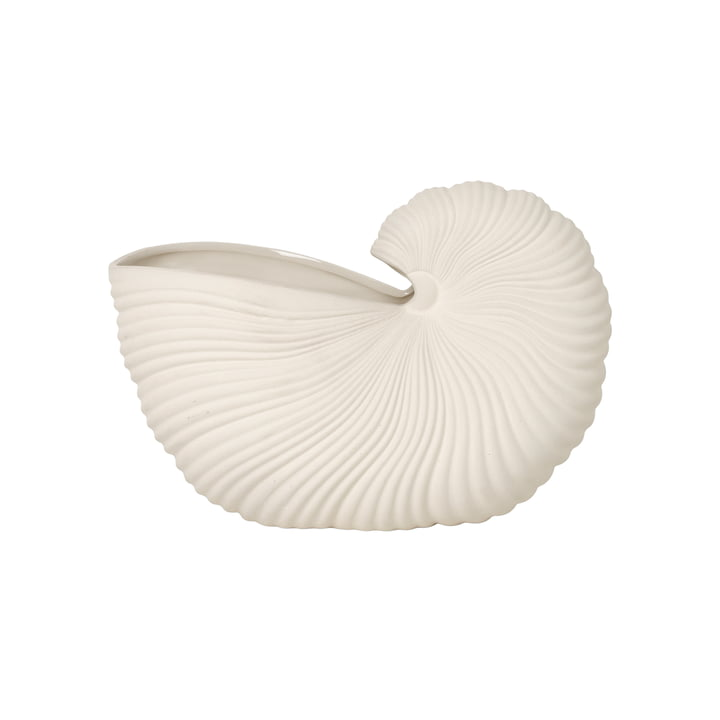 Shell Pot af ferm Living in offwhite