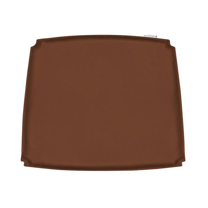 Pude til CH26 lænestol af Carl Hansen i brunt læder (Loke 7748)