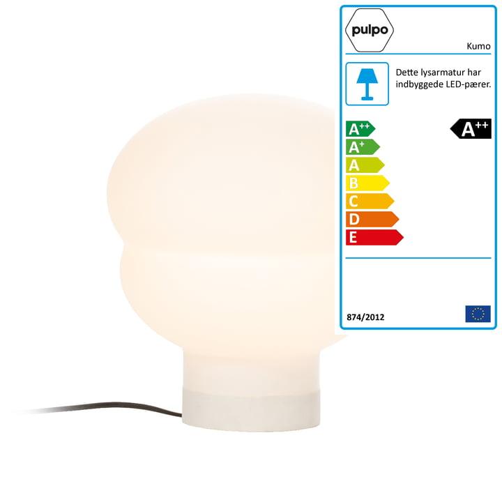 Kumo bordlampe lille af Pulpo i hvid