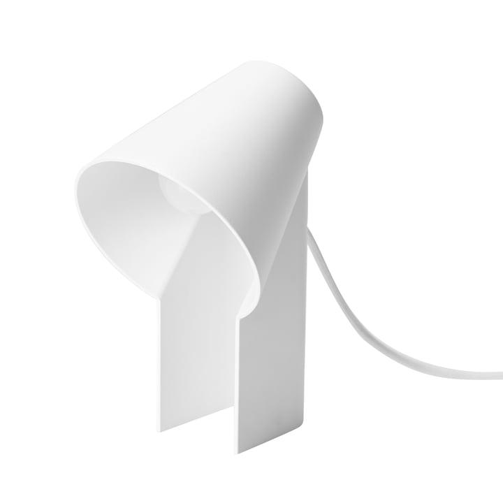 Studie bordlampe af Woud i hvid