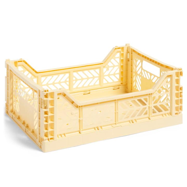 Colour Crate Basket M, 40 x 30 cm fra Hay i lys gul