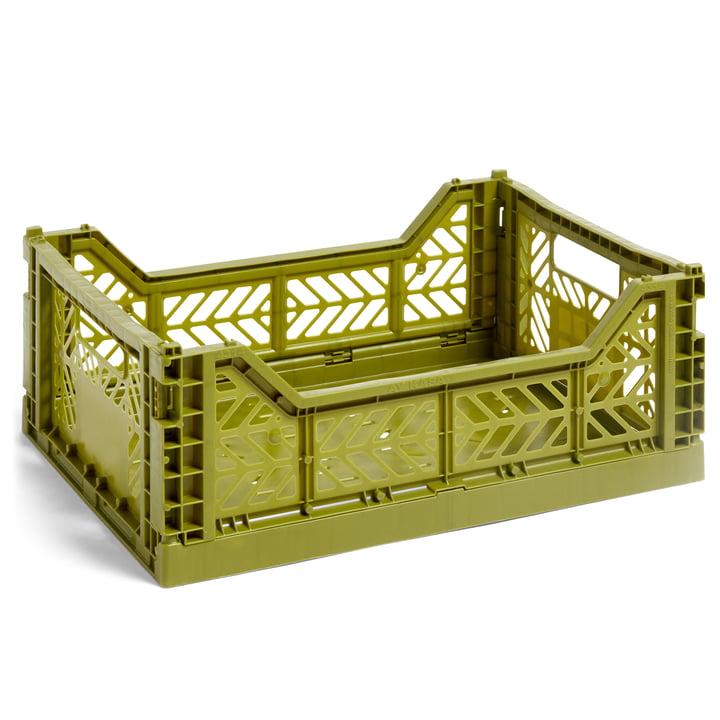 Colour Crate Basket M, 40 x 30 cm fra Hay i oliven