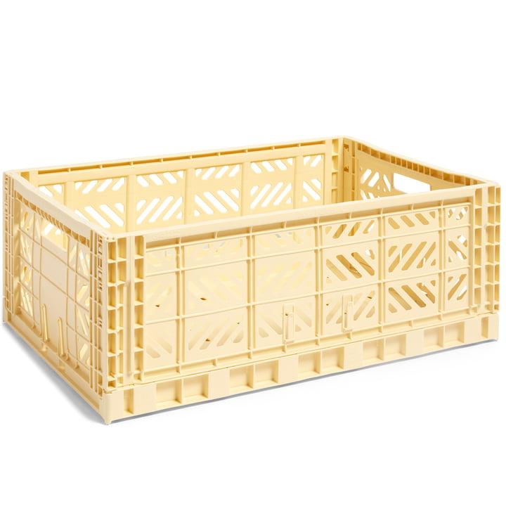 Colour Crate Basket L, 60 x 40 cm fra Hay i lys gul