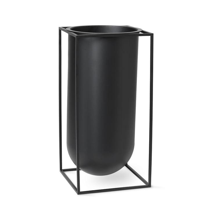 Kubus Vase Nolia af Lassen i sort