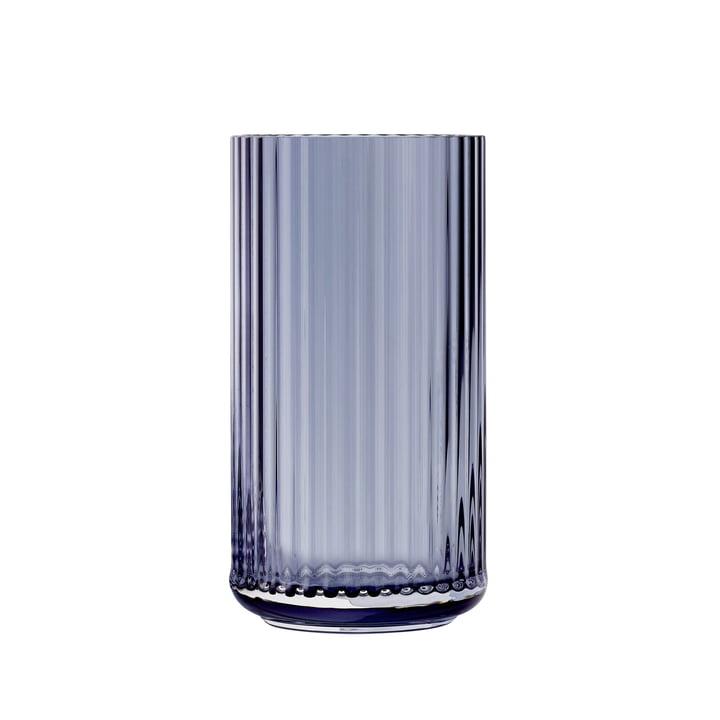 Glasvase H 20 cm af Lyngby Porcelæn i blå