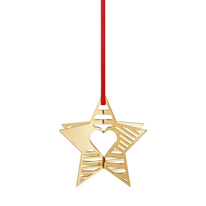 Holiday Ornament 2019 star, guld af Georg Jensen