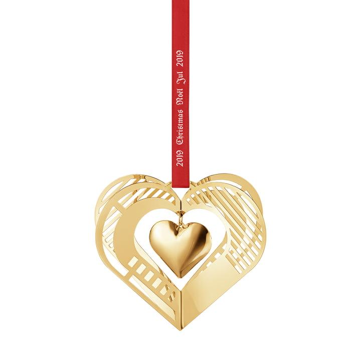 Jule mobil 2019 hjerte, guld af Georg Jensen
