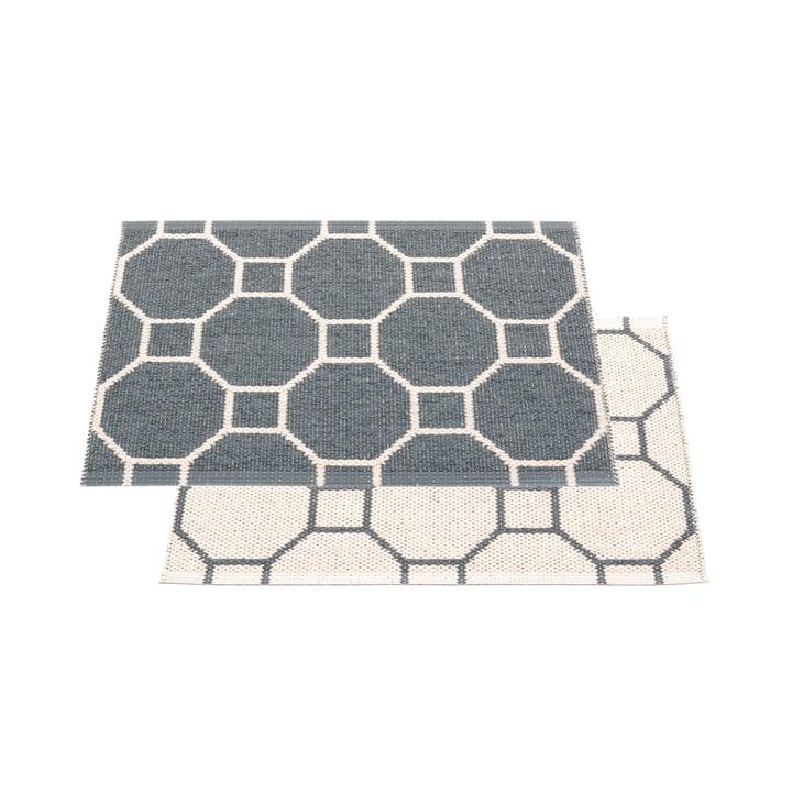 Squeegee reversible tæppe, 70 x 50 cm i granit / vanille af Pappelina