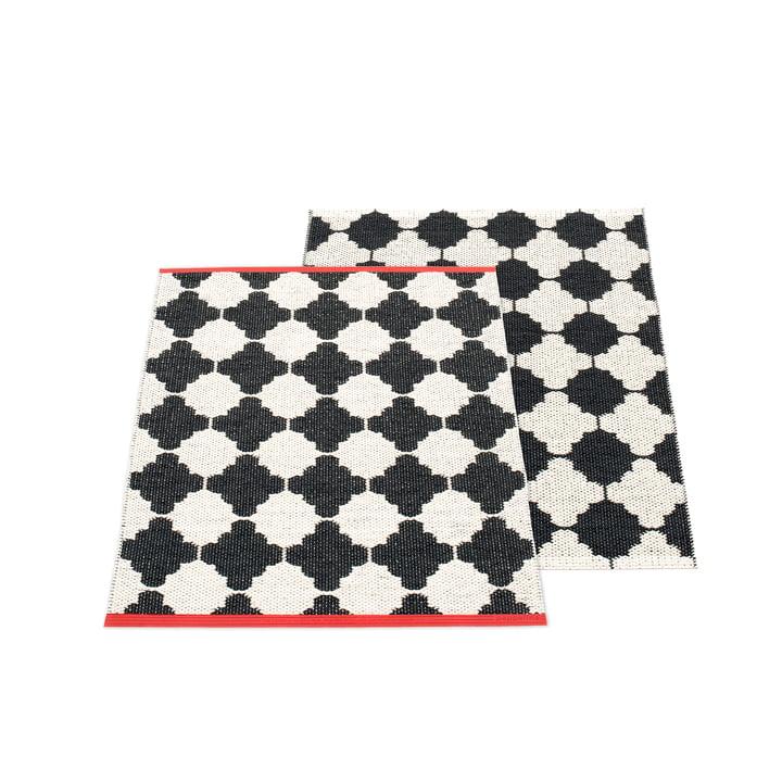 Marre vendbar tæppe, 70 x 90 cm i sort / vanille af Pappelina