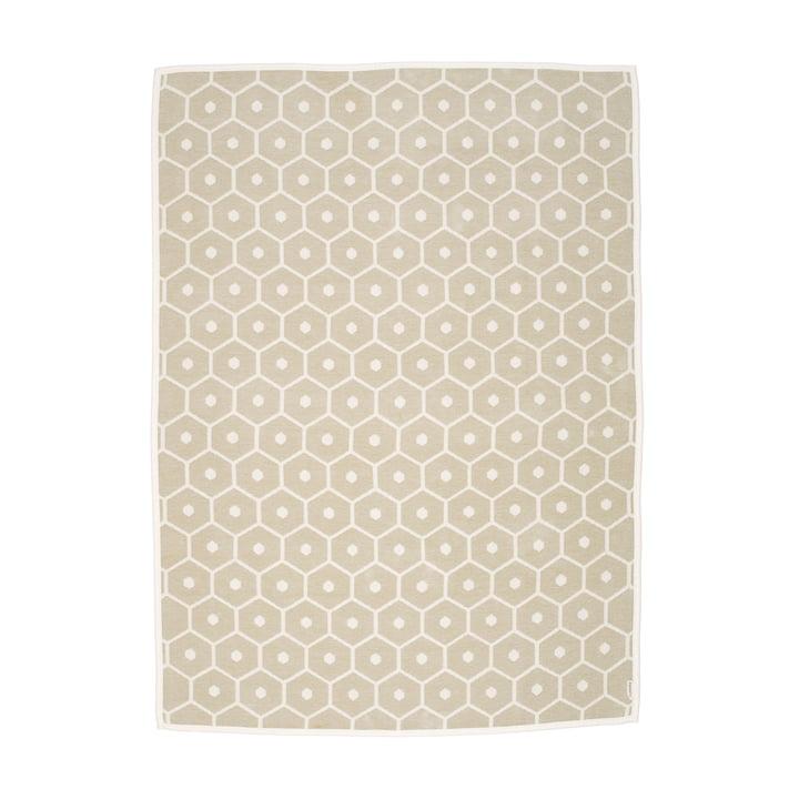 Honning tæppe, 140 x 180 cm i sand fra Pappelina