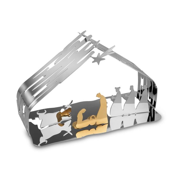 Bark Nativity af Alessi i rustfrit stål / stålguld