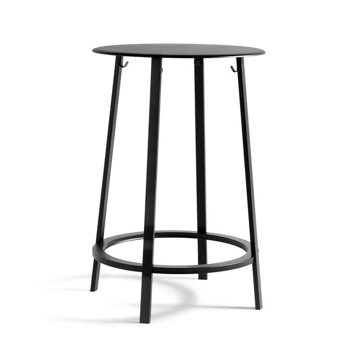 Revolver bar bord Ø 70 x H 105 cm med høje i sort