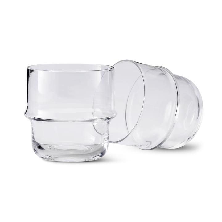 Unda glas (sæt 2) i klar fra Design House Stockholm