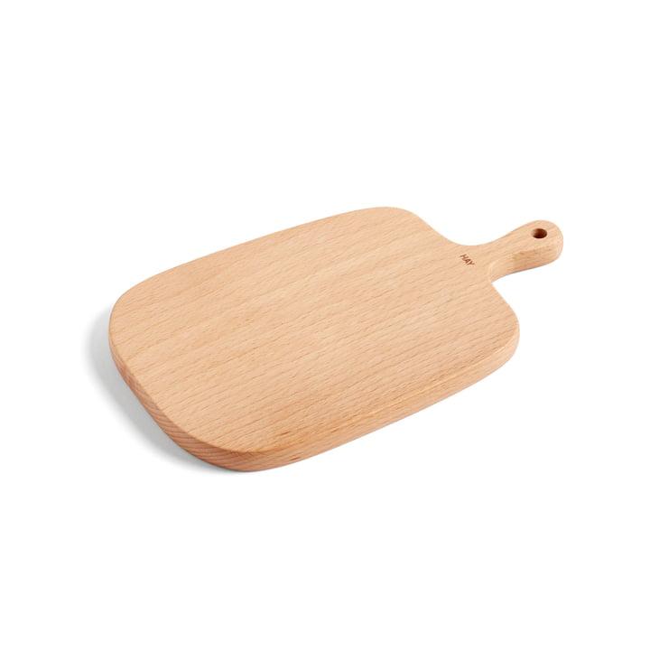Plank skære og servering bord S 27 x 16 cm af højen lavet af bøg træ