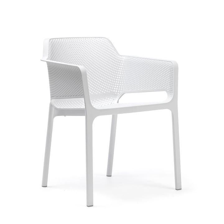 Net lænestol af Nardi i hvid