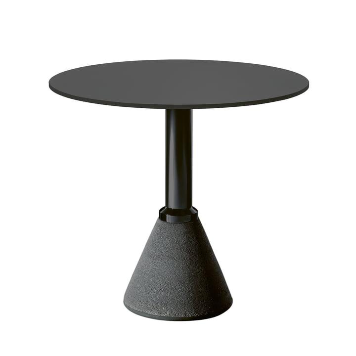Table One Bistro Ø 79 cm i sort / sort af Magis