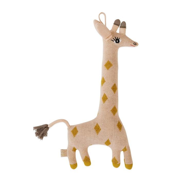 Strikket blød legetøj Baby Giraffe Guggi af OYOY
