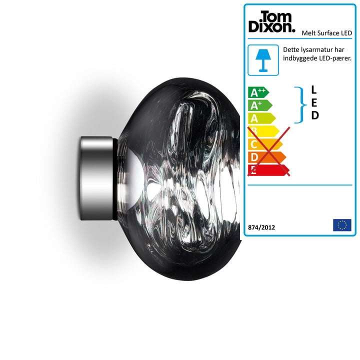 Smelt Mini Surface LED taklampe af Tom Dixon i krom