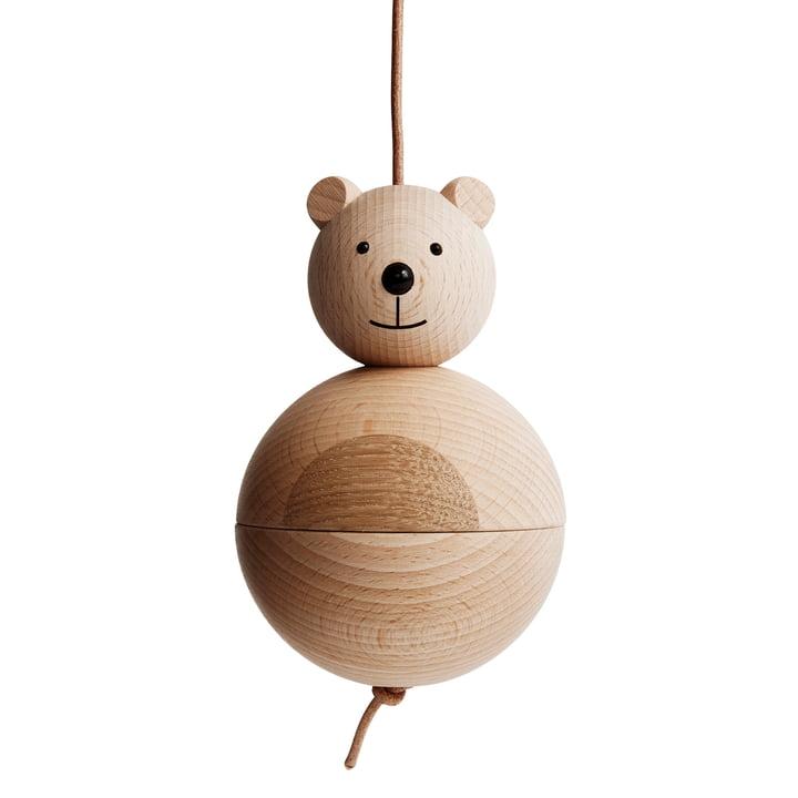 Træfigur bjørn af OYOY lavet af eg / bøg