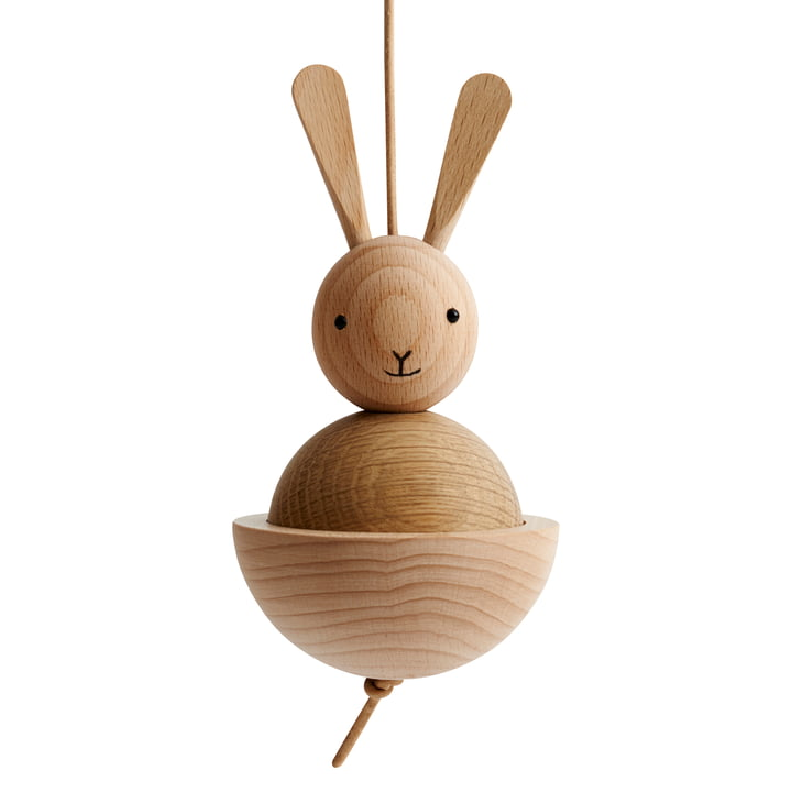 Træfigur Hare af OYOY i eg / bøg
