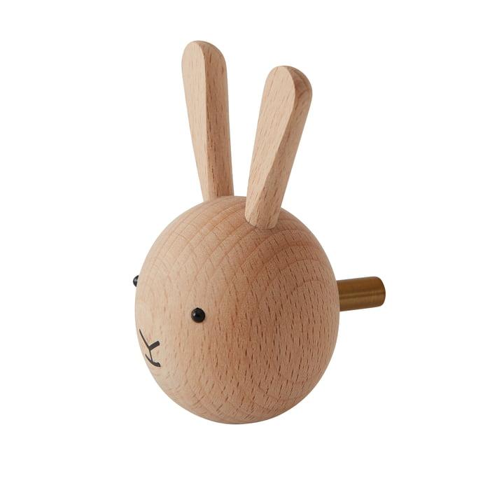 Kids Wall Hook Bunny af OYOY