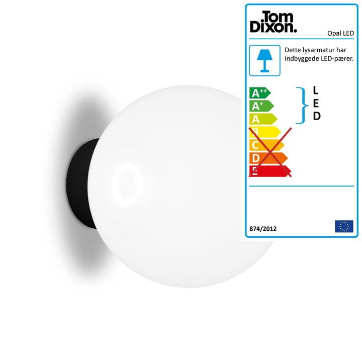 Opal LED væg og loftslampe Ø 25 cm af Tom Dixon