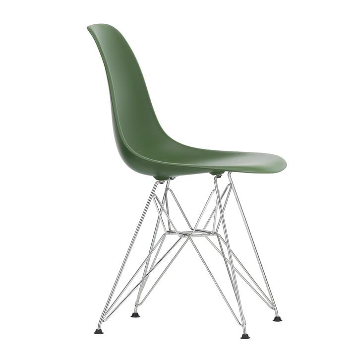 Eames Plastic Side Chair DSR af Vitra i krom / skov