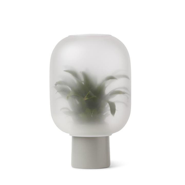 Nebl Vase stor, Ø 24,5 x H 30 cm i gråt af Gejst
