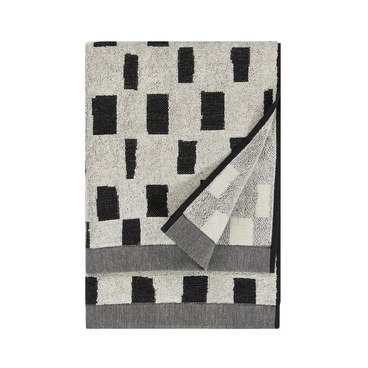 Iso Noppa håndklæde 50 x 100 cm af Marimekko i sort / hvid