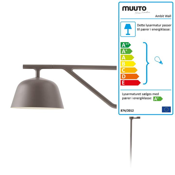 Ambit væglampe i taupe af Muuto