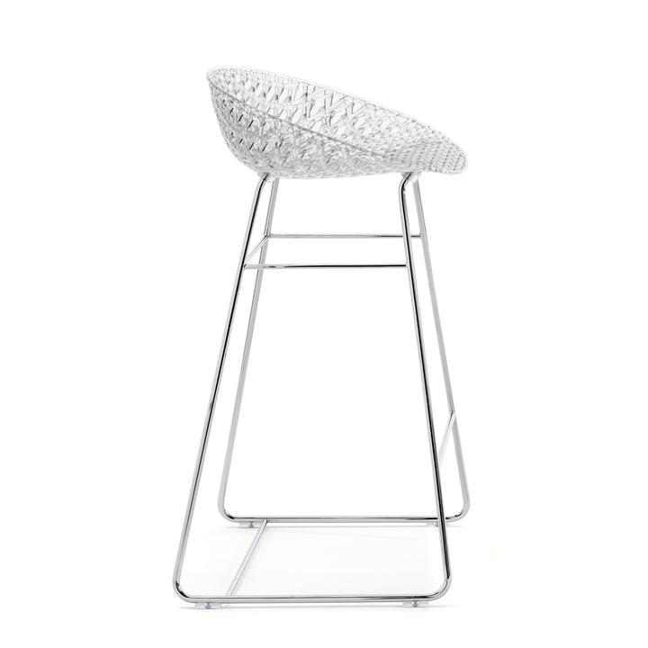 Smatrik bar stol af Kartell i krom / krystal
