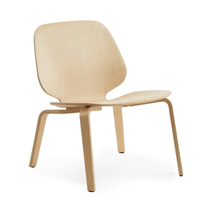 Min stol Lounge i birk af Normann Copenhagen