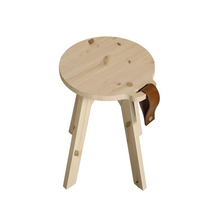 Landstol / sidebord Ø 40 x H 45 cm ved Karup Design i naturen